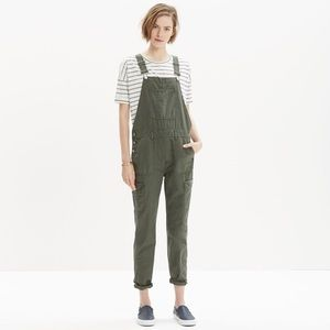 Madewell Green Cargo Overalls - xs
